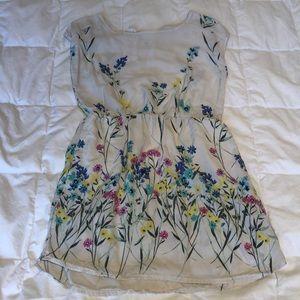 💫 GAP Kids girls Floral 🌸 DRESS sz 6 / 7 small